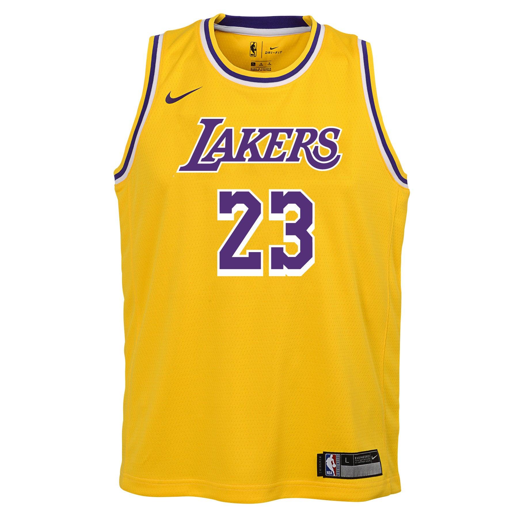 Lebron James #23 LA Lakers Los Angeles Golden Edition Basketball Jersey Black