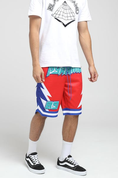 Black Pyramid Lightening BBall Short Red