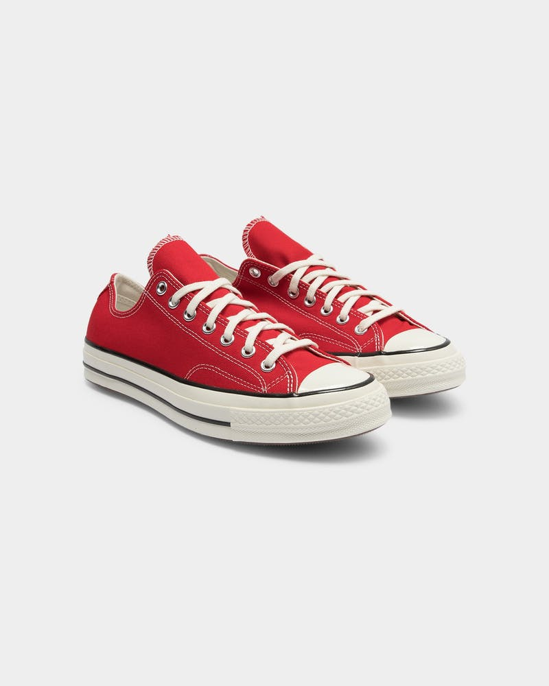 Converse Men's Chuck Taylor All Star 70 Low Top Enamel Red/Egret/Black