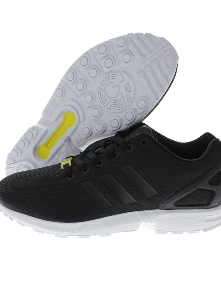 reputable site 1124a ce74a ZX Flux Black white