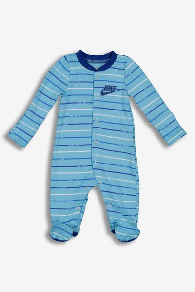 Nike Infant NKB Just Do It Stripe FTD Coverall Blue