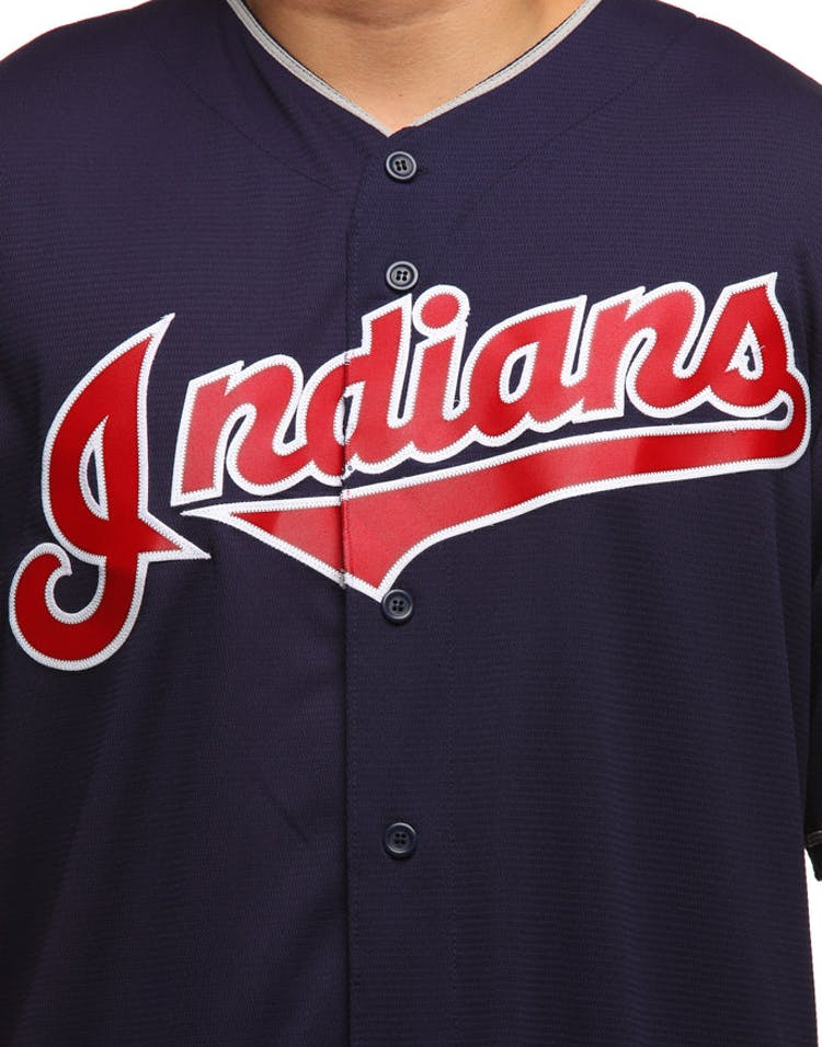 0d80415c1 Majestic Athletic Cleveland Indians Cool Base Jersey Navy – Culture ...