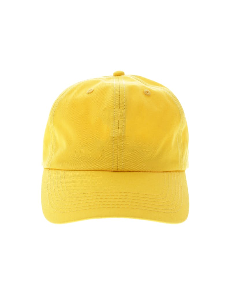Goat Crew 6 Panel Precurved Strapback Gold