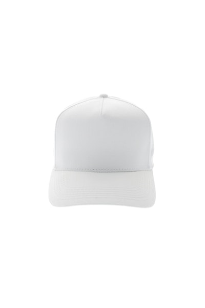 5 Panel Precurved Strapback White