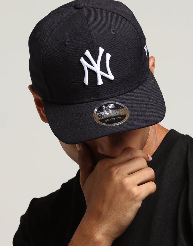 57afa84c1e708 New Era New York Yankees 9FIFTY Original Fit Precurved Snapback Navy –  Culture Kings