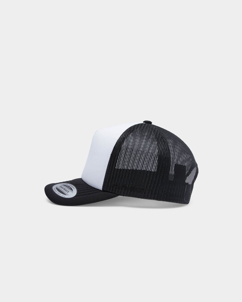 Flexfit HI Crown Trucker Black/White