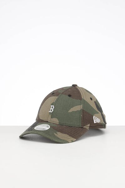 New Era Ladies Boston Red Sox 9FORTY Mini Strapback Camo