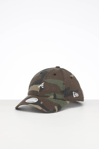 New Era Ladies Atlanta Braves 9FORTY Mini Strapback Camo