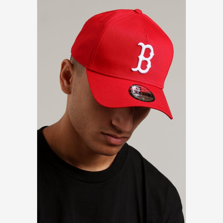 fe29b246c34 New Era Boston Red Sox 9FORTY A-Frame Grey Undervisor Snapback Red Gre – Culture  Kings
