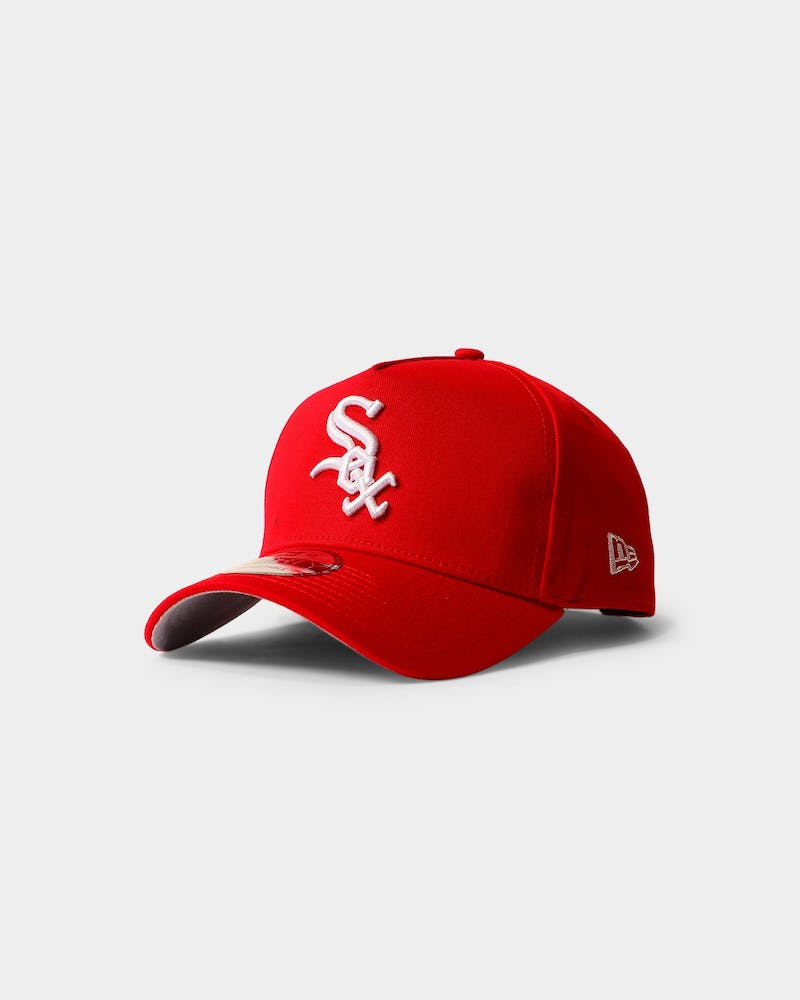 New Era Chicago White Sox 9FORTY A-Frame Grey Undervisor Snapback Red/Grey