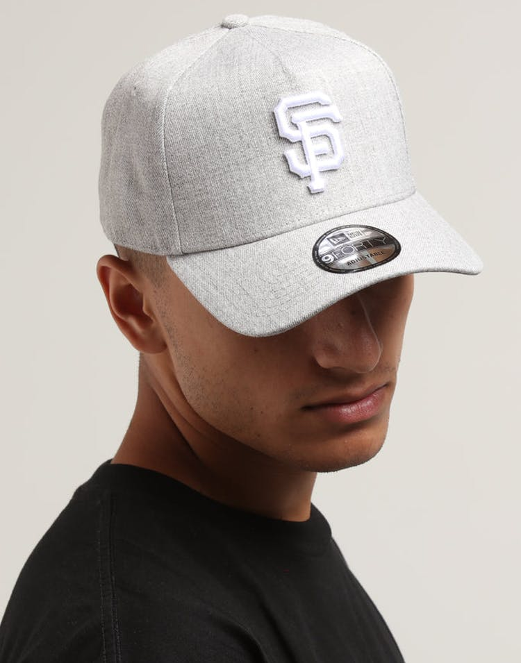 sale retailer ccb3f 19be4 New Era San Francisco Giants 9FORTY A-Frame Snapback Heather Grey – Culture  Kings