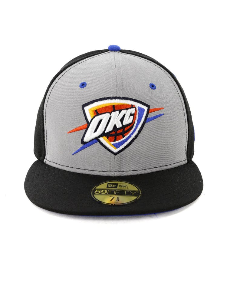 promo code cac2b 68203 New Era Oklahoma City Thunder 59FIFTY Fitted Black – Culture Kings