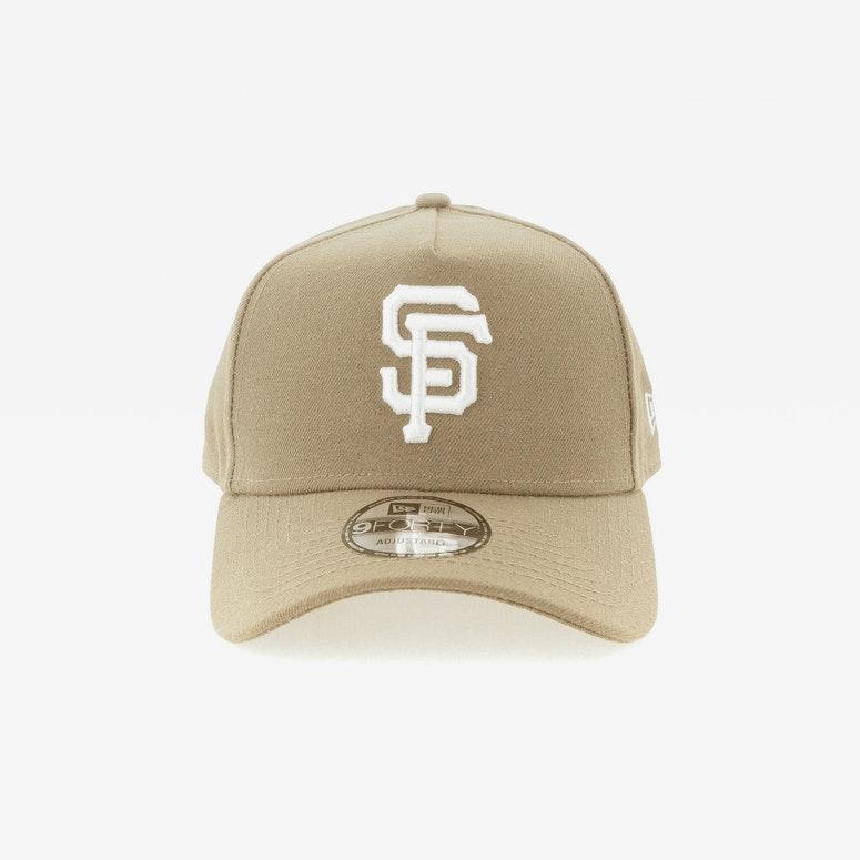 New Era San Francisco Giants 9FORTY A-Frame Snapback Sand/White ...