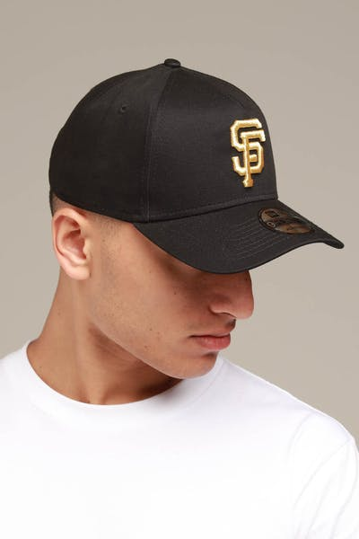 new concept 806c9 6ccdd New Era San Francisco Giants 9FORTY A-Frame Snapback Black Gold