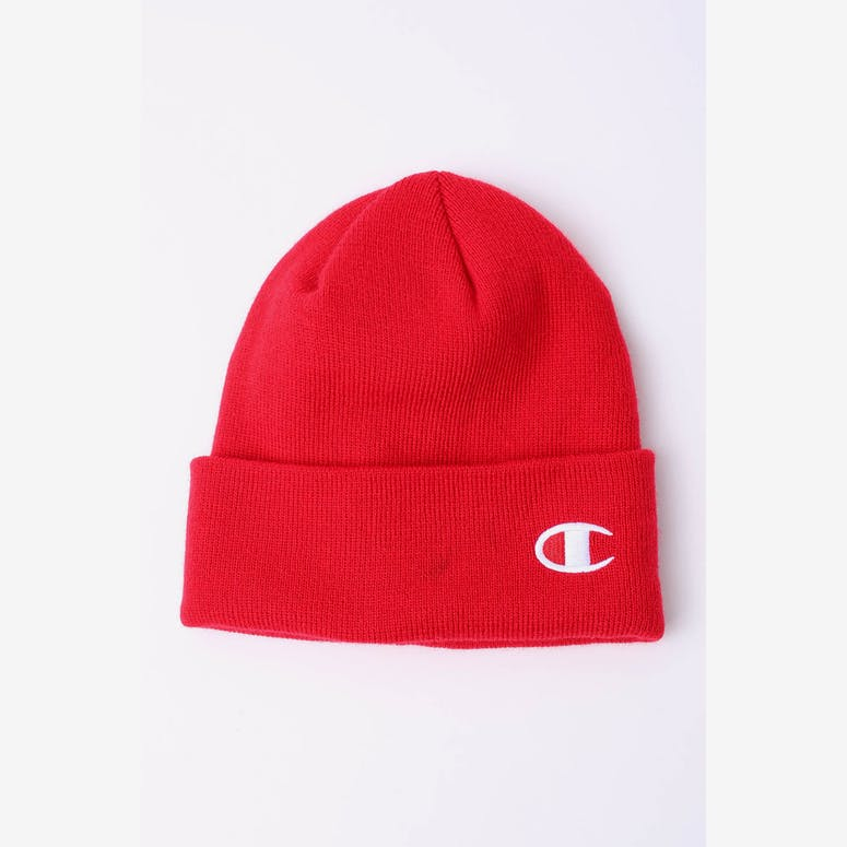 Champion C Life Logo Beanie Red – Culture Kings 2a46f2095647