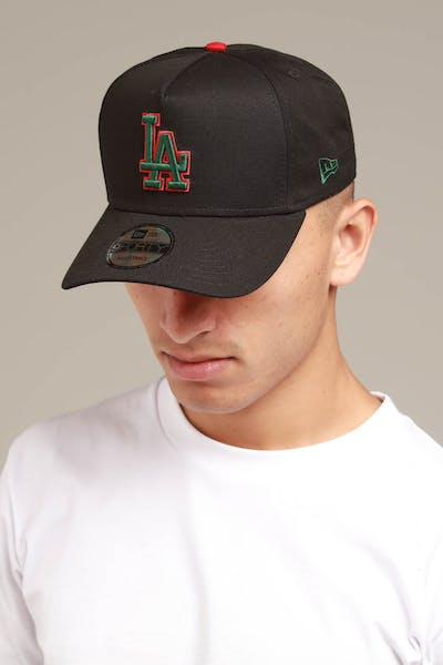 New Era Los Angeles Dodgers 9FORTY A-Frame Snapback Black/Green/Red