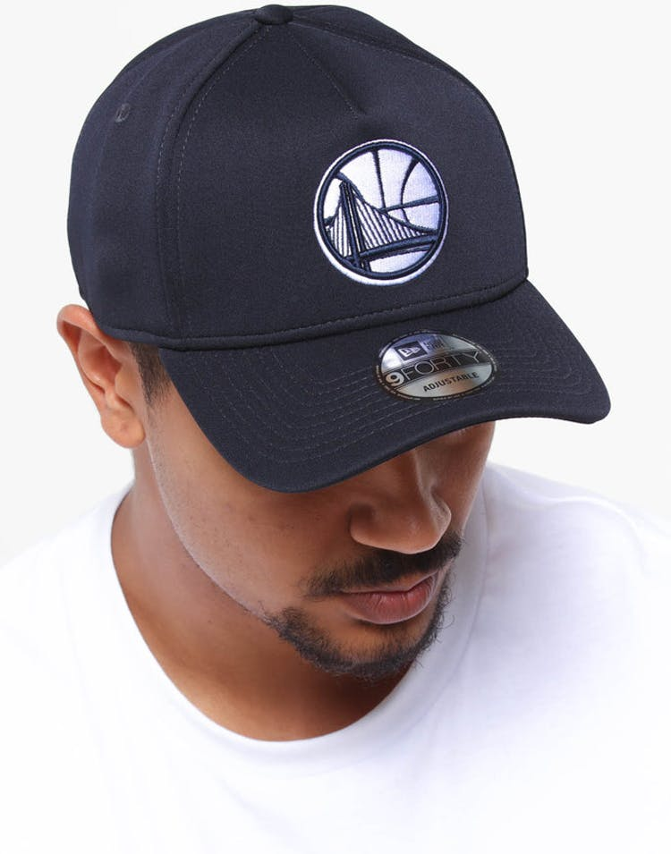 c08f7cefbe2653 New Era Golden State Warriors 9FORTY A-Frame Neo Snapback Navy – Culture  Kings