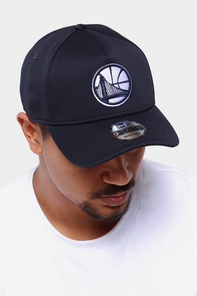 ac5941b0bde New Era Golden State Warriors 9FORTY A-Frame Neo Snapback Navy