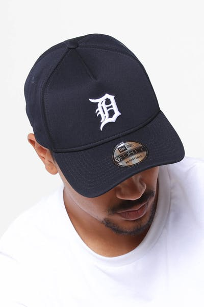 best sneakers f136c 61cdf New Era Detroit Tigers 9FORTY A-Frame Neo Snapback Navy