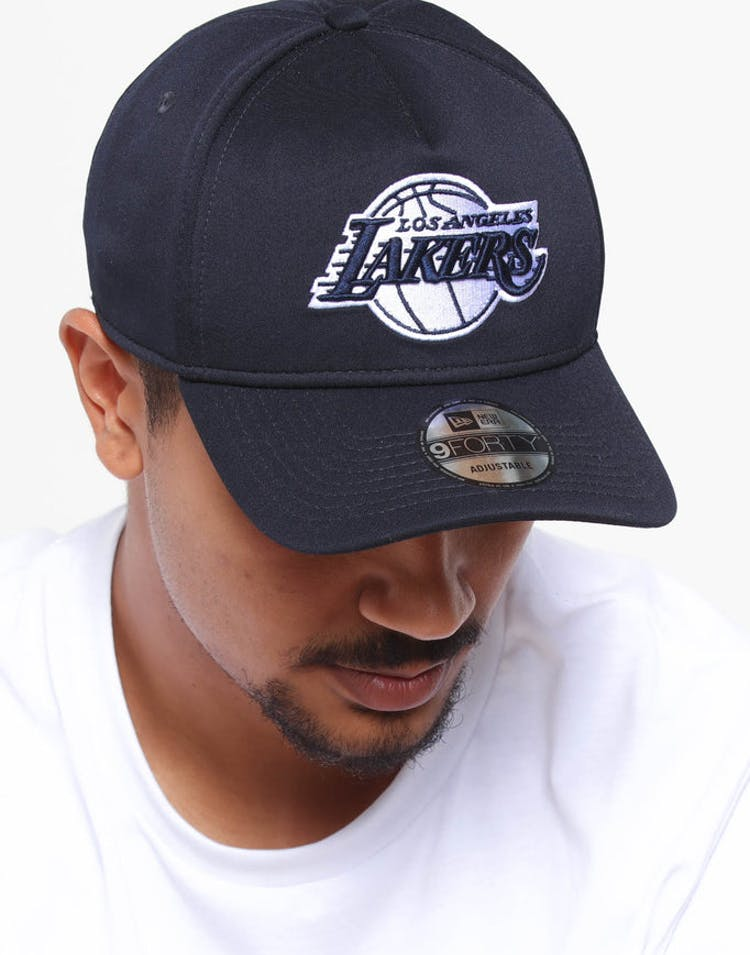 new arrival 2b222 11ef5 New Era Los Angeles Lakers 9FORTY A-Frame Neo Snapback Navy – Culture Kings