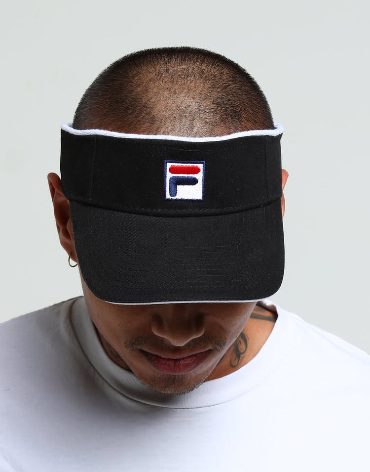 df6b8bf2aeee94 Fila Heavy Brushed Velcro Visor Black – Culture Kings