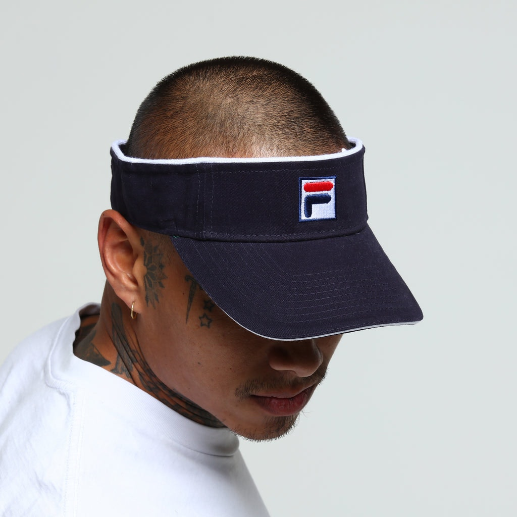 Buy Here Pay Here Tampa >> Fila Heavy Brushed Velcro Visor Navy – Culture Kings