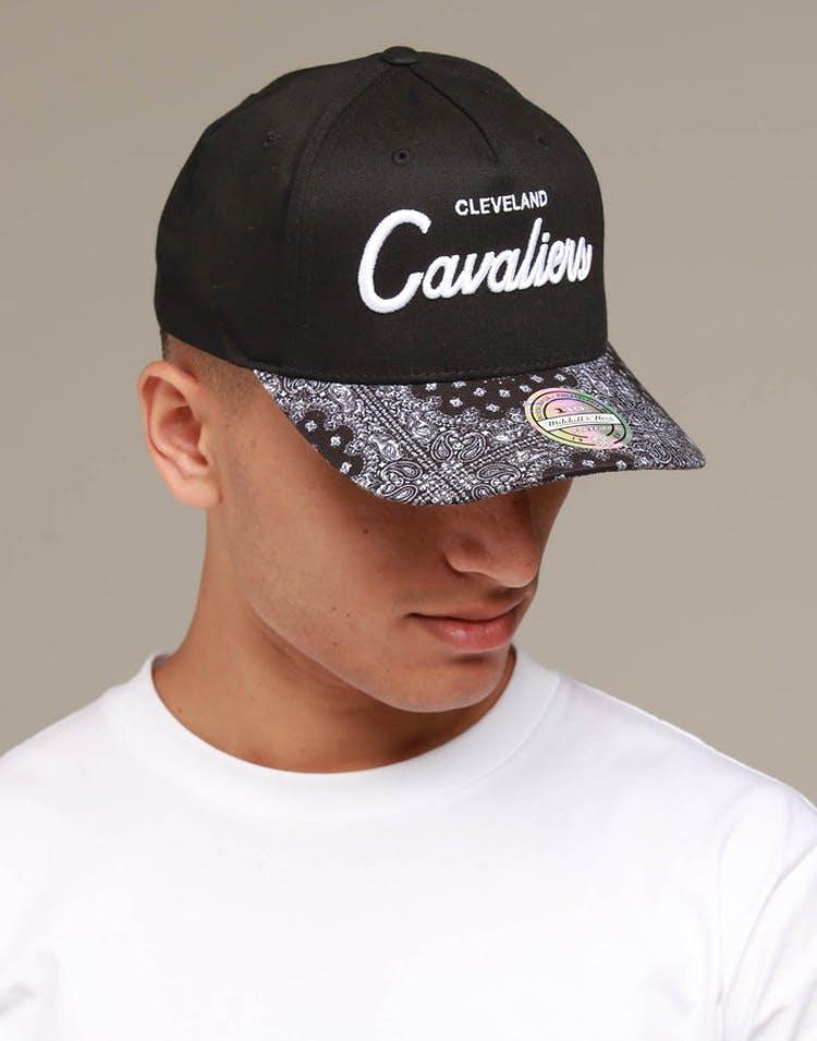 buy popular e764c ed542 Mitchell   Ness Cleveland Cavaliers Paisley 110 Snapback Black – Culture  Kings