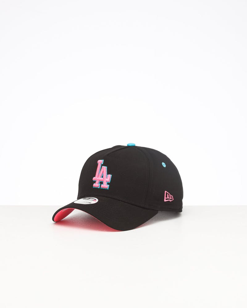 New Era Women's Los Angeles Dodgers 9FORTY A-Frame LP Strapback Black/Neon