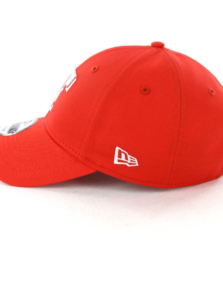 online store af255 183b8 New Era Texas Rangers 9FORTY Cloth Buckle Strapback Red