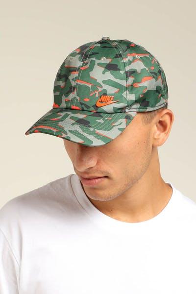 17686f738a14d Nike NSW Heritage 86 Cap Camo Orange