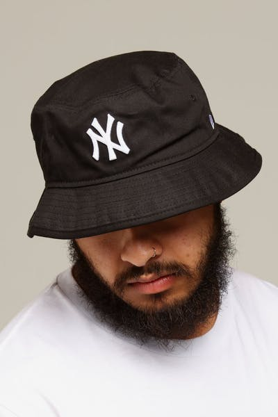 New Era New York Yankees Bucket Hat Black/White
