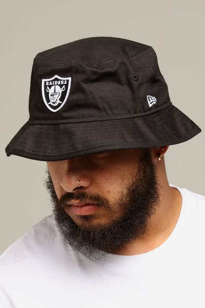 79477b191c2 New Era Raiders Bucket Hat Black White