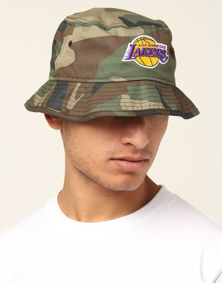 1265a9a1 New Era Los Angeles Lakers Bucket Hat Camo – Culture Kings