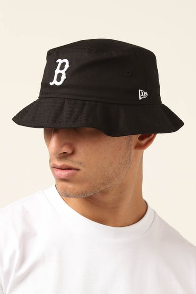 New Era Boston Red Sox Bucket Hat Black/White