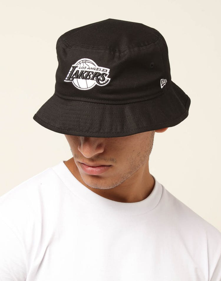 3fbf4cc3 New Era Los Angeles Lakers Bucket Hat Black/White – Culture Kings