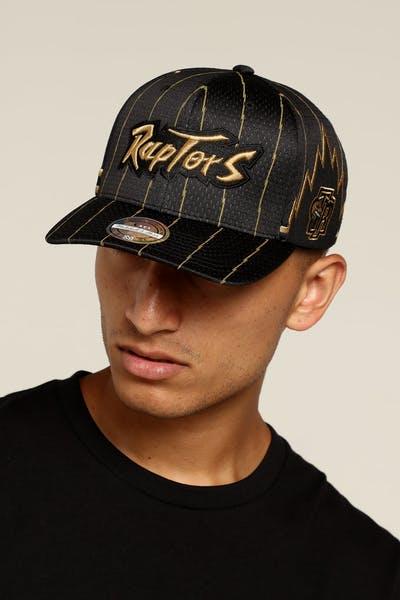 70f5f95cf5e Mitchell   Ness Toronto Raptors City Series Snapback Black Yellow Black