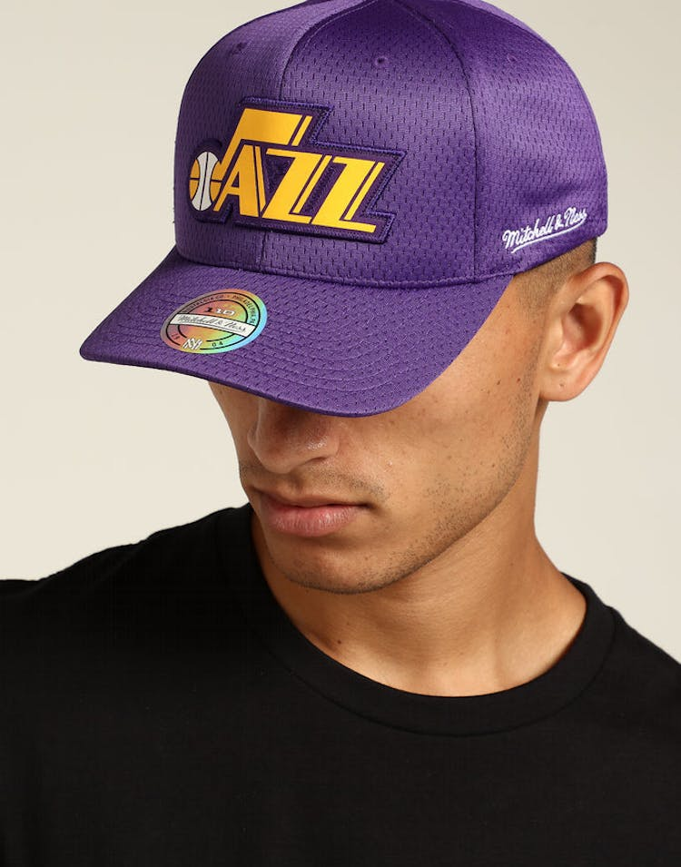 752121fe871 Mitchell & Ness Utah Jazz Icon 110 Snapback Purple – Culture Kings