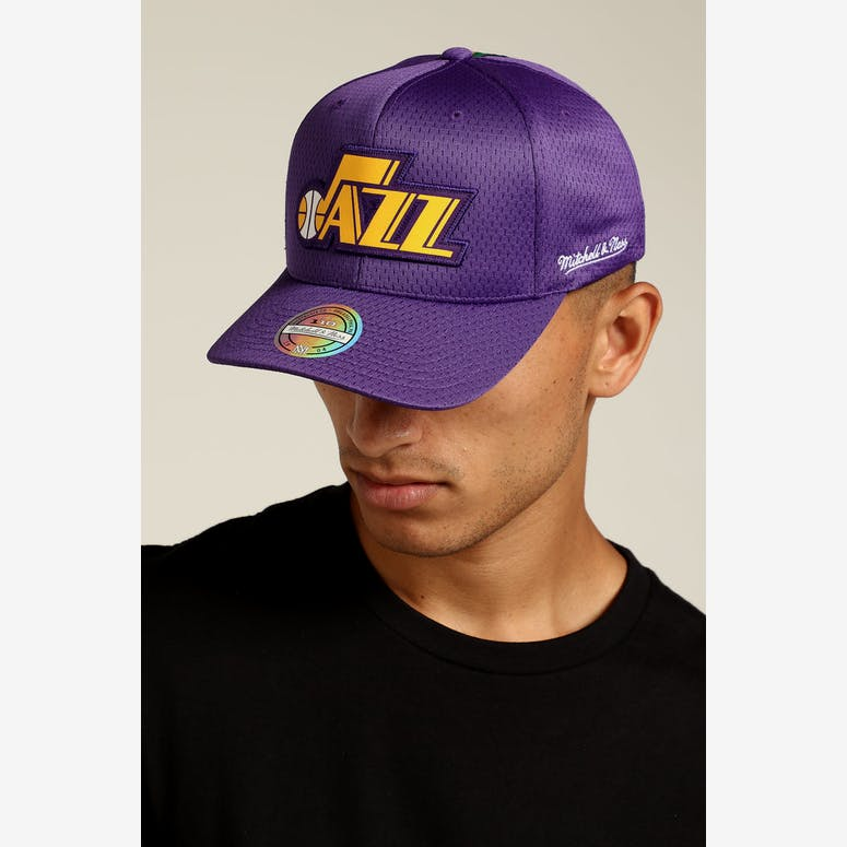 Mitchell   Ness Utah Jazz Icon 110 Snapback Purple – Culture Kings 43bc75282120