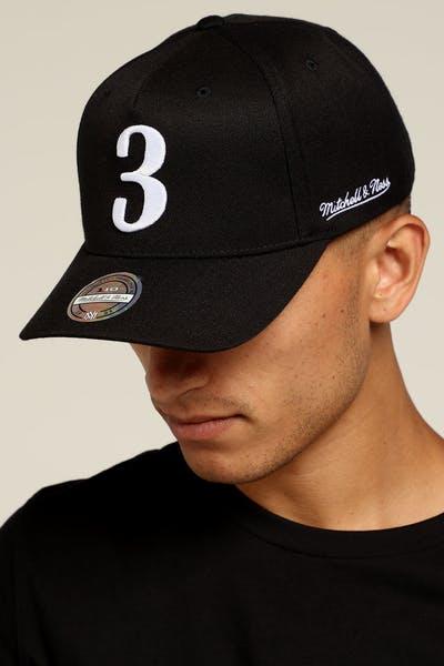 Mitchell   Ness Philadelphia 76ers Allen Iverson 110 Snapback Black White bdf648eedb80