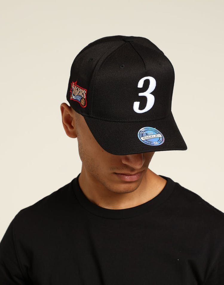 e649c54af Mitchell & Ness Philadelphia 76ers Allen Iverson 110 Snapback Black/White