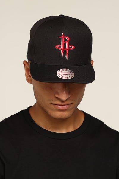 buy popular 7dfab 8e0bf Mitchell   Ness Houston Rockets Logo High Crown Snapback ...