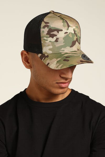 Flexfit Hi Crown Trucker Camo