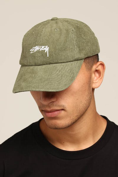 Stussy Authentic Cord Low Pro Cap Green