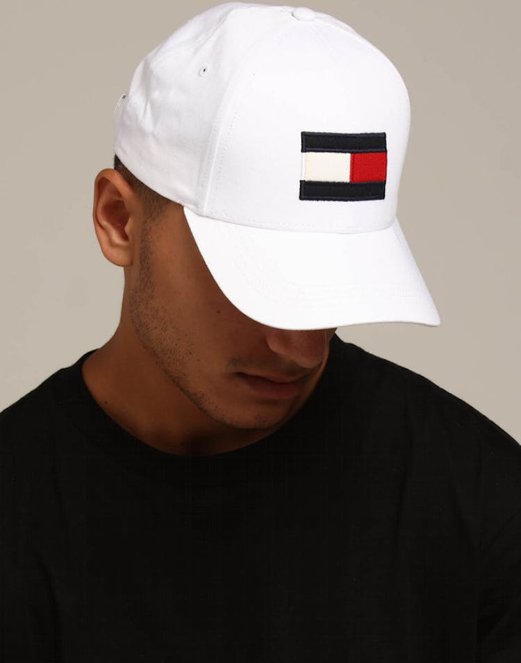 b2f916fdbbeb4 Tommy Jeans Big Flag Cap White – Culture Kings