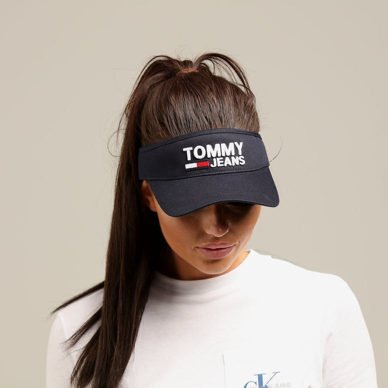 Tommy Jeans Women's TJW Logo Visor Black Iris