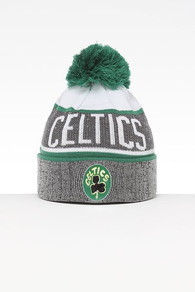 100% authentic 7cf42 8ef86 Mitchell   Ness Boston Celtics Team Knit HWC Beanie Grey Green