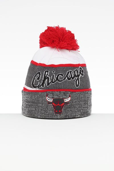 1bab9fae6be Mitchell   Ness Chicago Bulls Team Knit HWC Beanie Grey Red