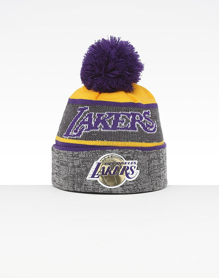 be4680ae6 Mitchell & Ness Los Angeles Lakers Team Knit HWC Beanie Grey/Purple