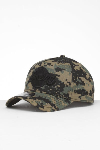 meet 16f0a 5d66a New Era Los Angeles Lakers 9FORTY A-Frame Snapback Digi Camo Black ...