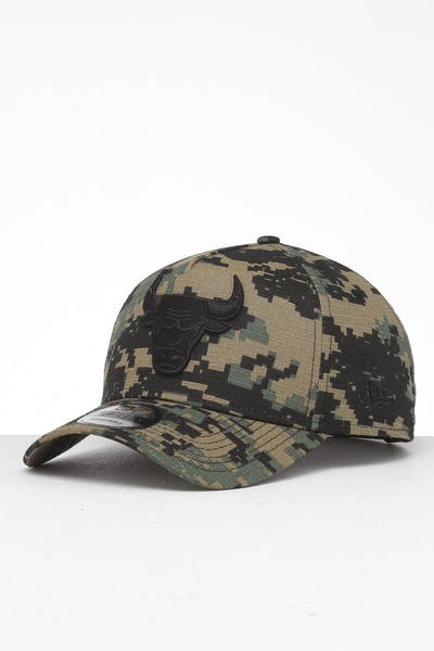 check out 7f42a 4c719 New Era Chicago Bulls 9FORTY A-Frame Snapback Digi Camo Black ...